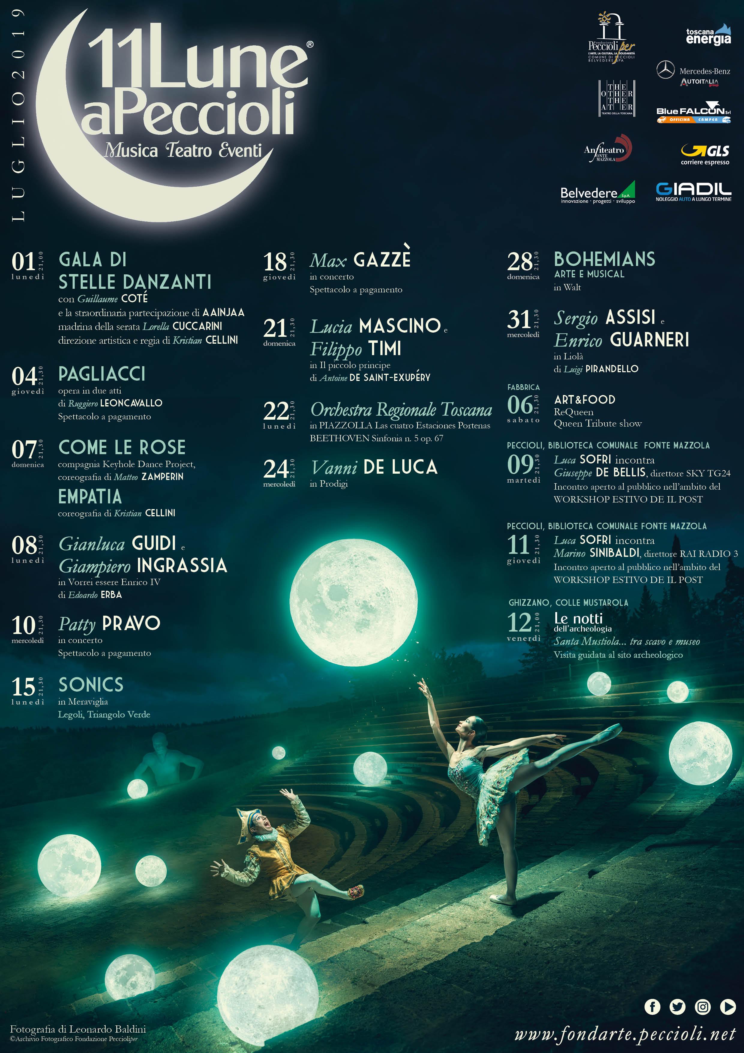 """Festival """"Undici Lune"""" a Peccioli, 15° edizione"""