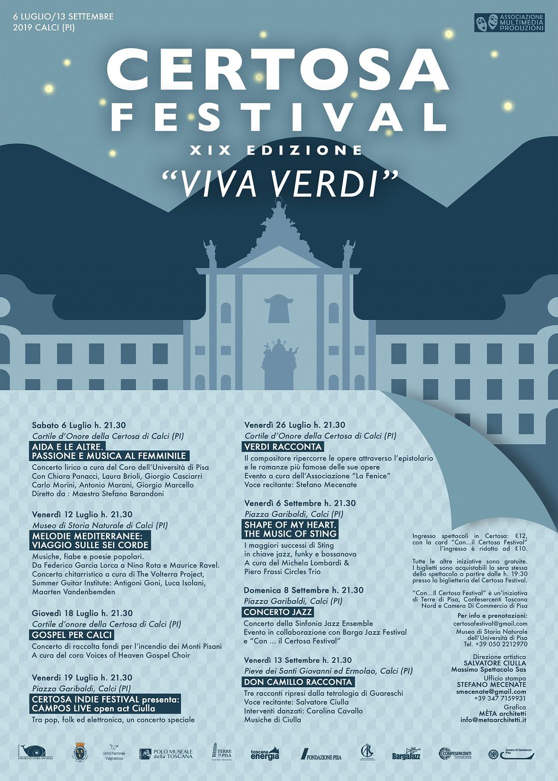 19° Certosa Festival | Calci
