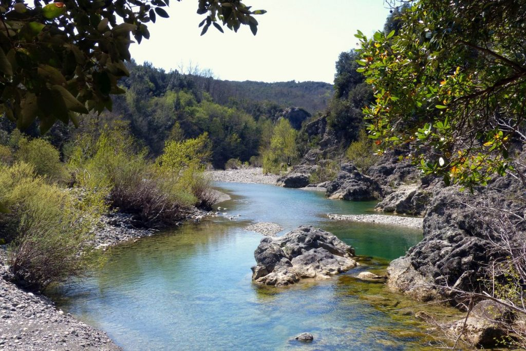 The Masso delle Fanciulle and the Cecina River | Pomarance