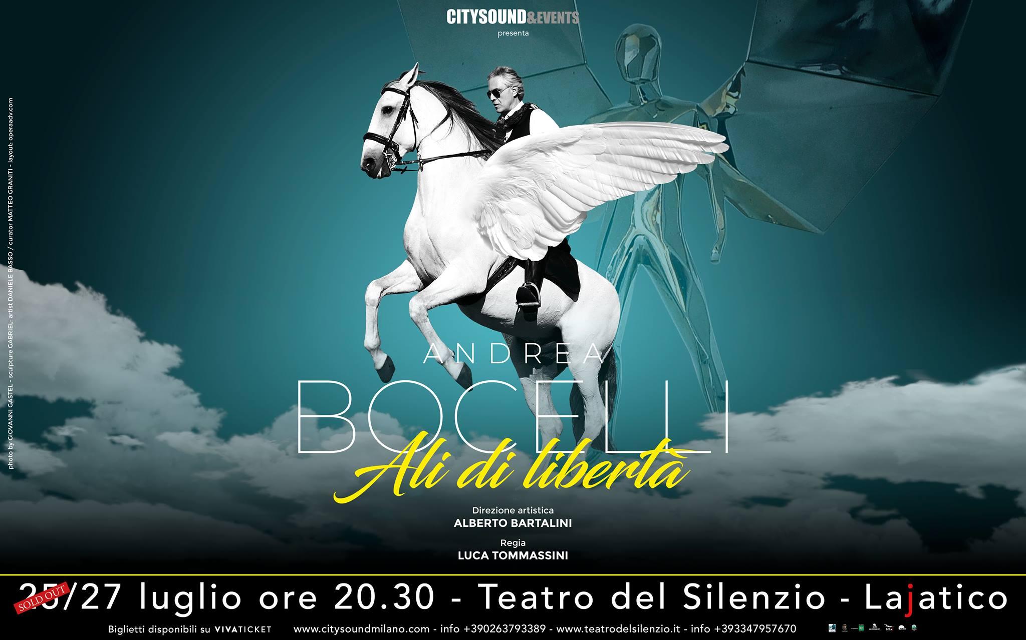 """14° Concerto di Andrea Bocelli – """"Le ali della libertà"""""""