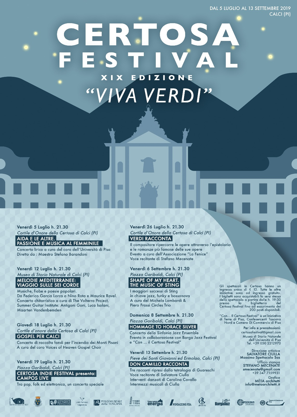 Certosa Festival, 19th edition | Calci