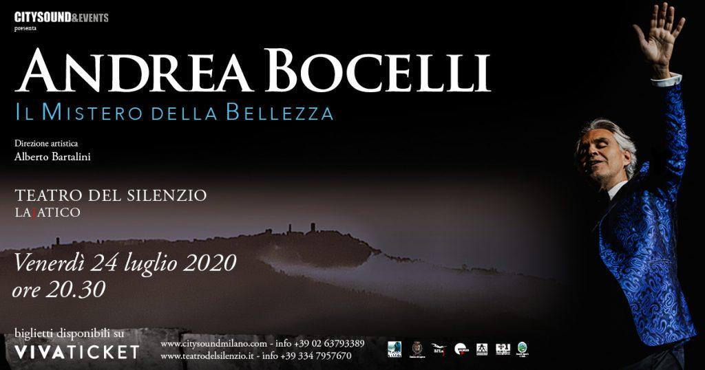 """Concerto di Andrea Bocelli 2020 – """"Il mistero della bellezza"""""""
