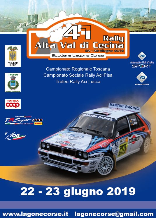 Rally in the Upper Cecina Valley, 41st edition