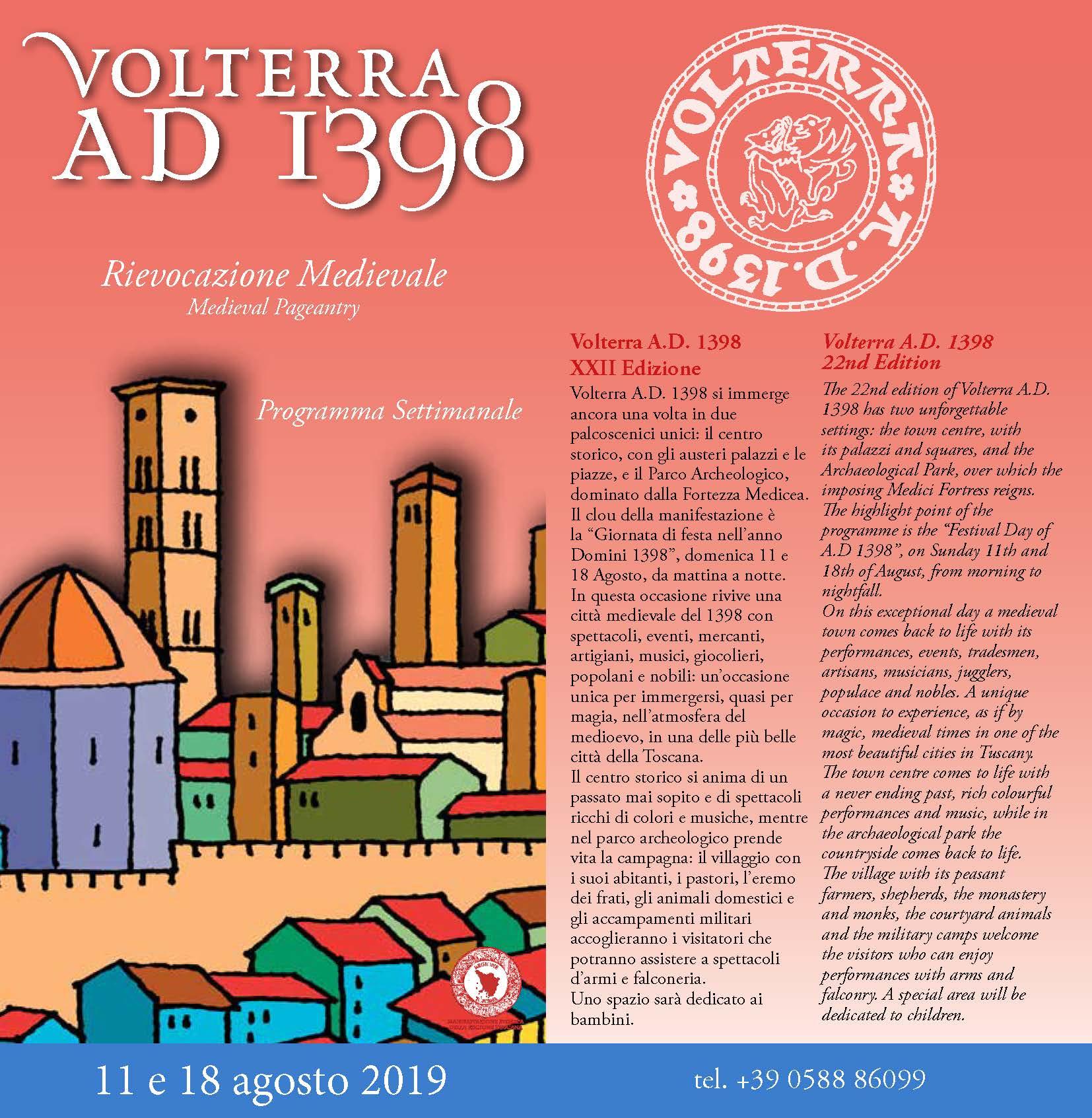 21° Volterra AD 1398 – Settimana Medievale
