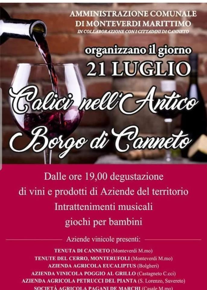 Calici nell'antico borgo di Canneto   Monteverdi Marittimo
