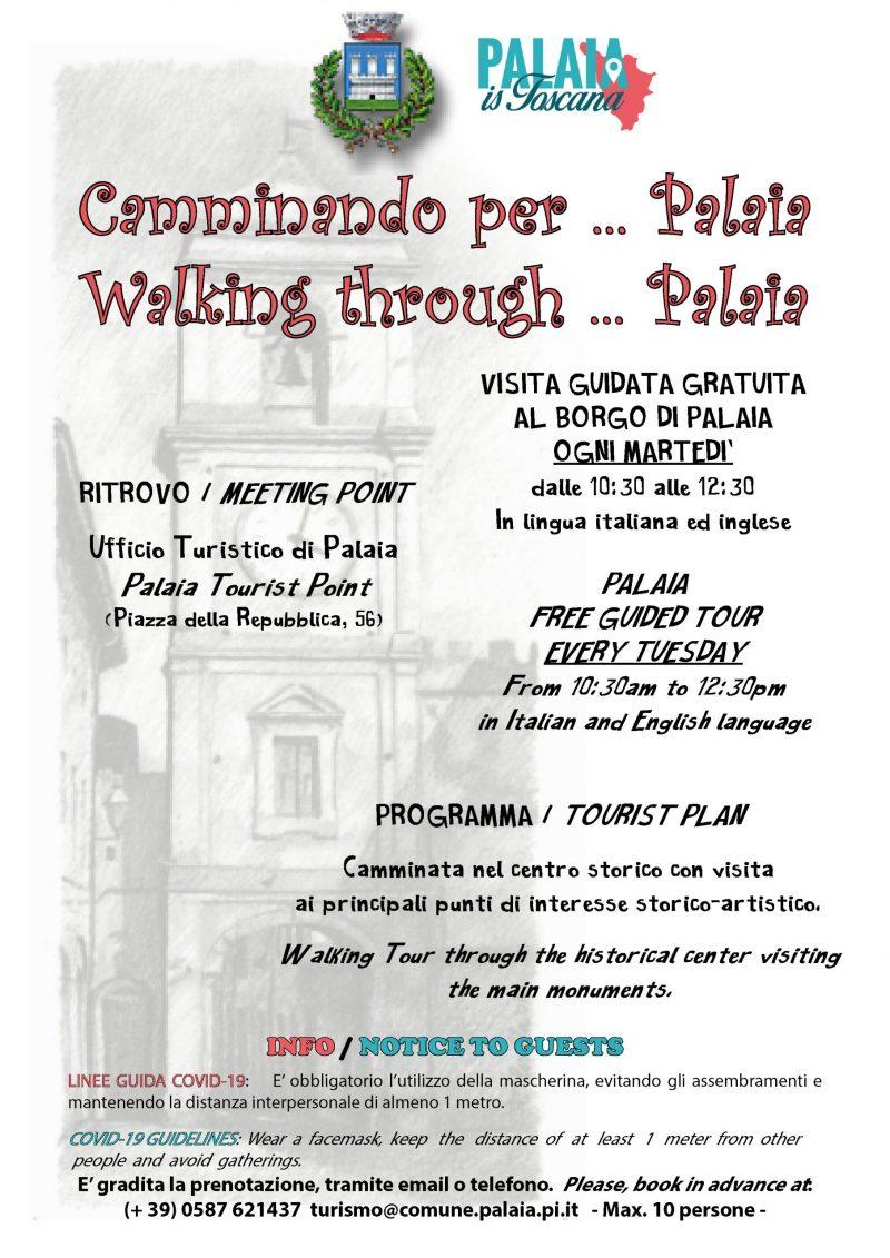 Camminando per Palaia: tour guidato gratuito ogni martedì