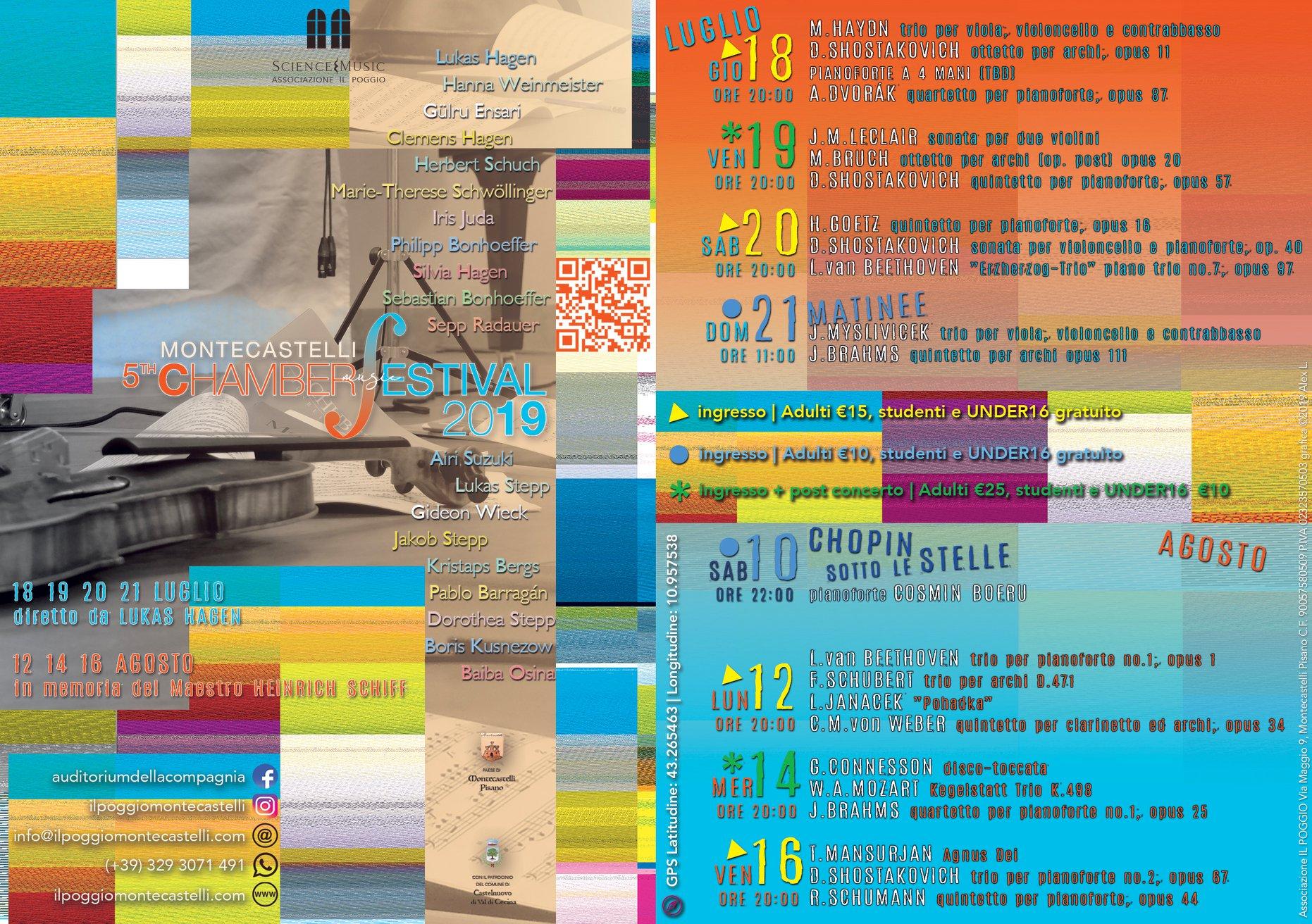 Montecastelli Chamber Festival, 6° edizione – sessione agosto