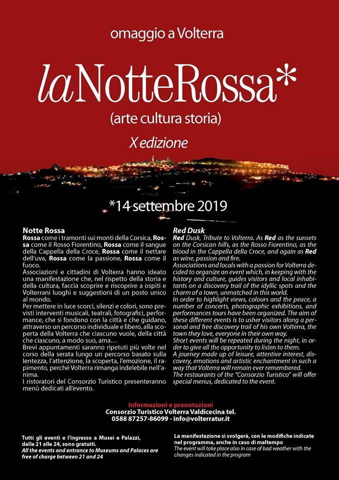 Notte Rossa, 11th edition – Red Dusk | Volterra