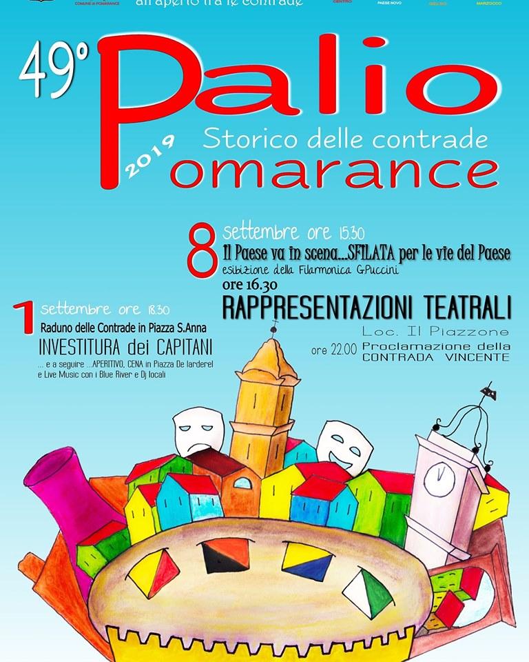 Cerimonia Investitura dei Capitani del Palio storico delle contrade di Pomarance
