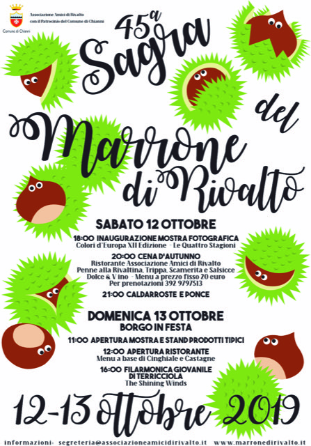 Marrone Chestnut Festival, 45th edition | Rivalto, Chianni