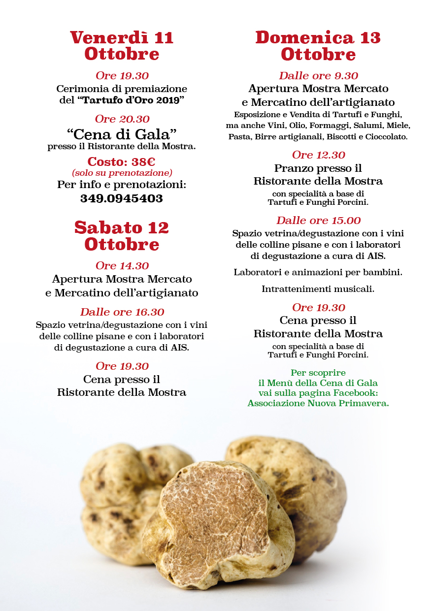 Truffle and Porcino Mushroom Fair, 33rd edition| Forcoli, Palaia
