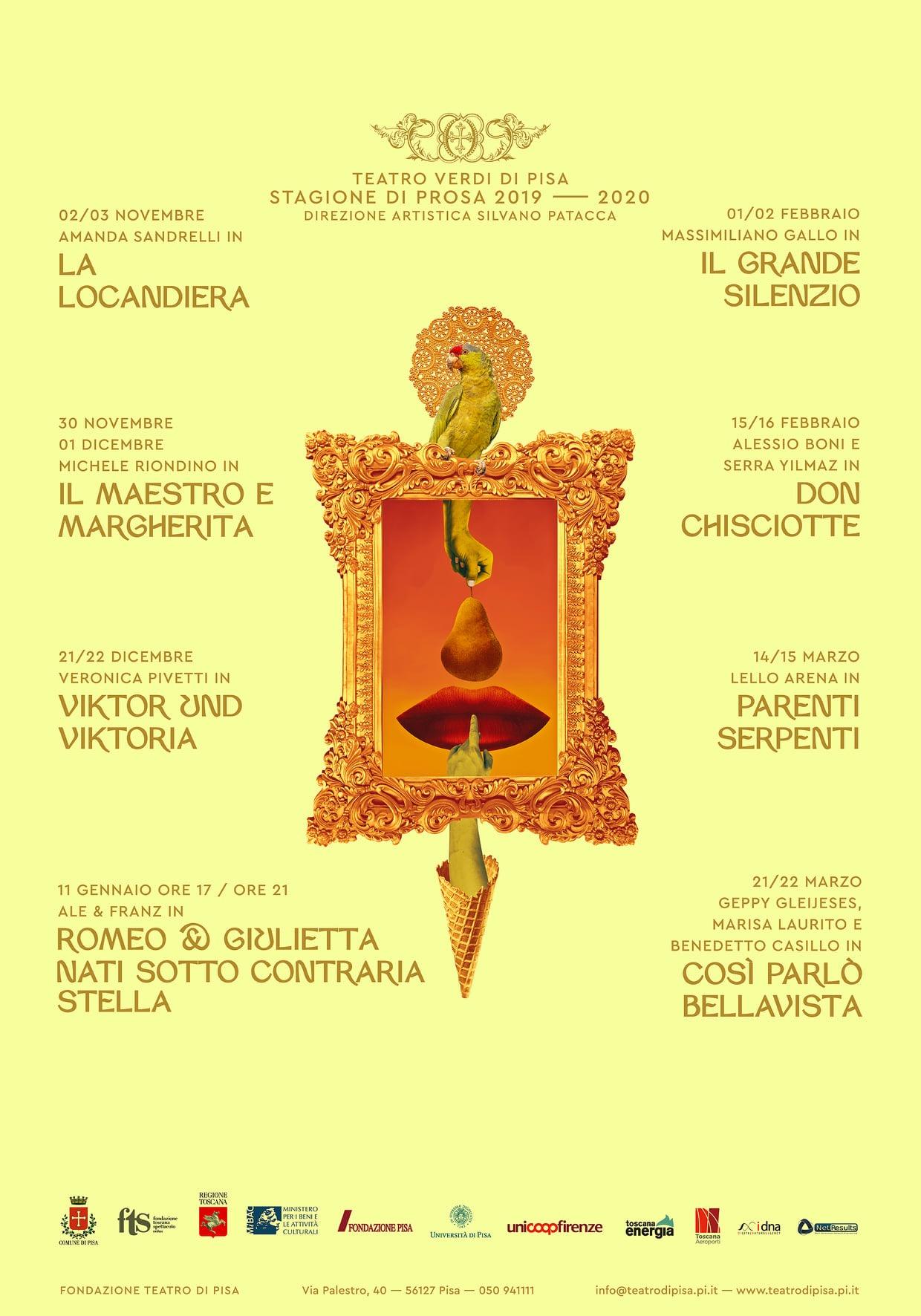 Teatro Verdi di Pisa: stagione di prosa 2019-20