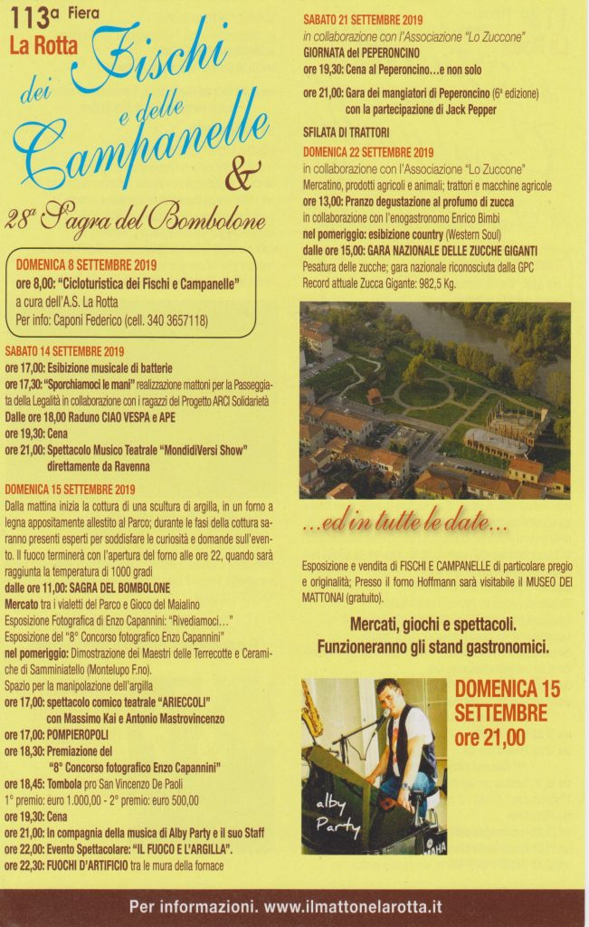 Whistles and Bells Fair, 113th edition | Pontedera, La Rotta
