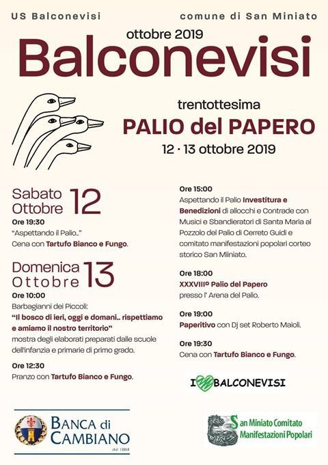 38° Palio del papero | Balconevisi, San Miniato