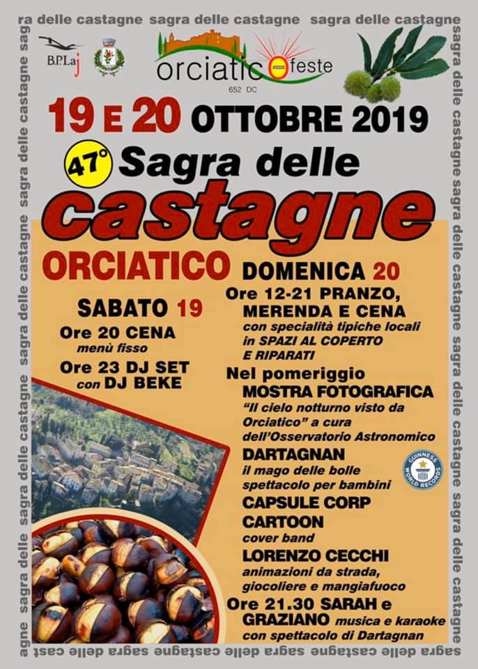 Chestnut Festival in Orciatico, 47th edition | Lajatico
