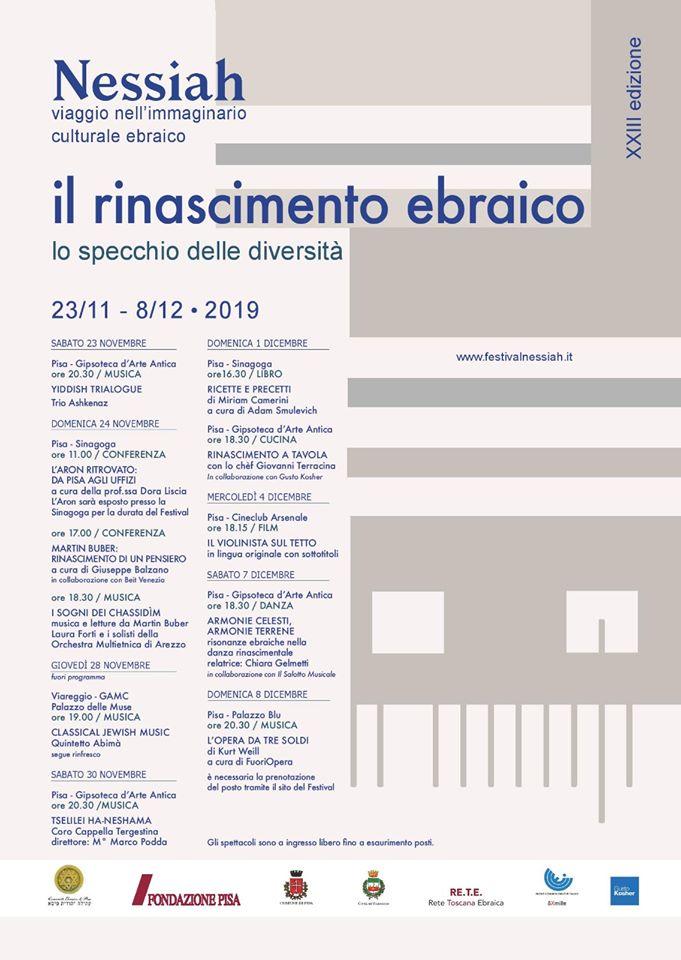 23° Nessiah: Viaggio nell'immaginario culturale ebraico | Pisa