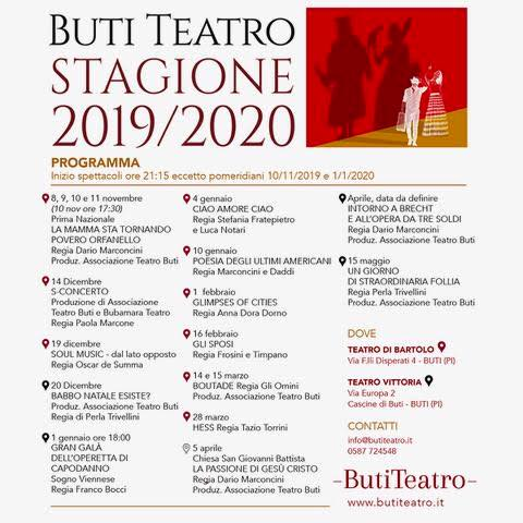 Stagione Teatro Francesco di Bartolo 2019-2020 | Buti