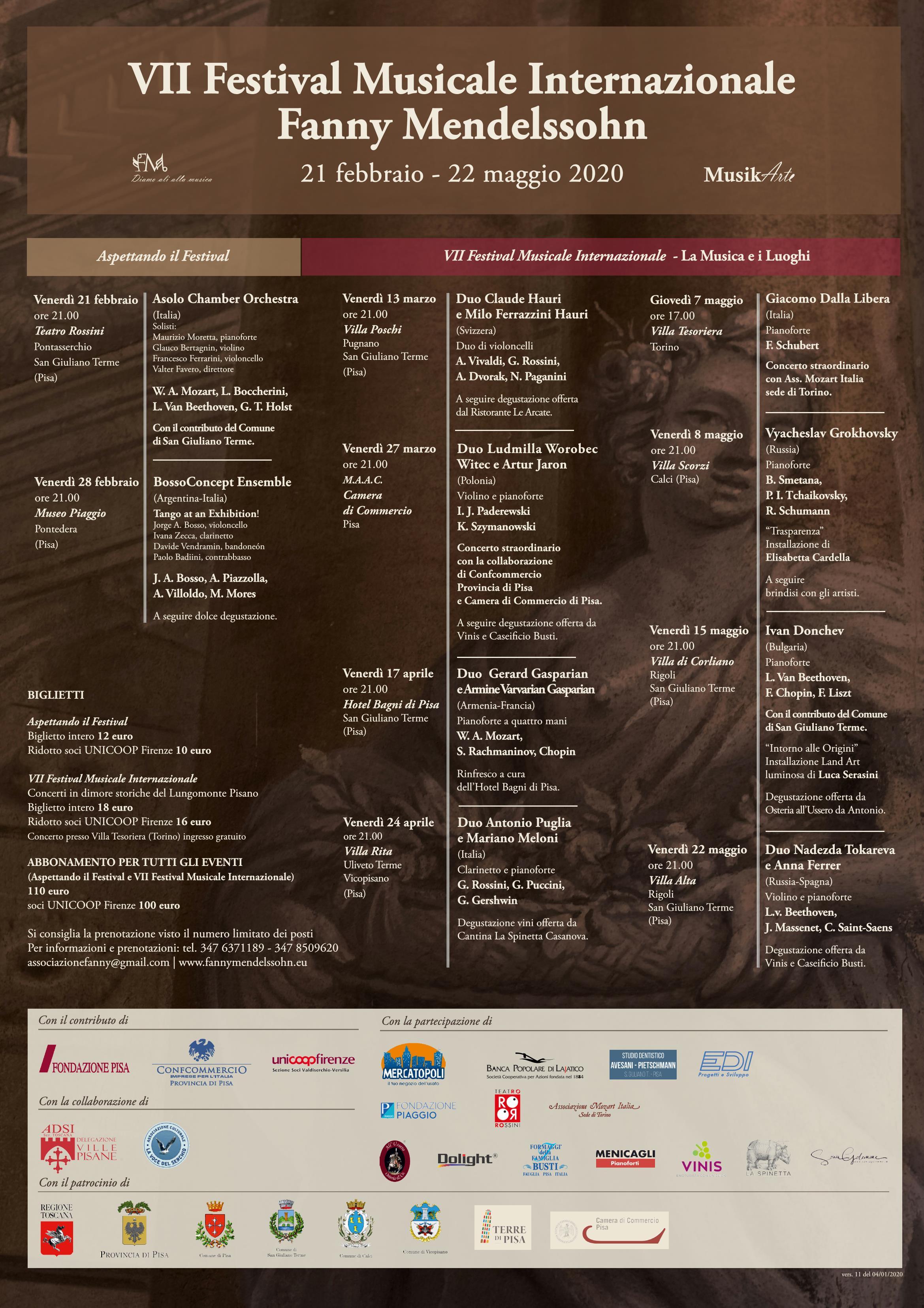 7° Festival Internazionale Musikarte Fanny Mendelssohn