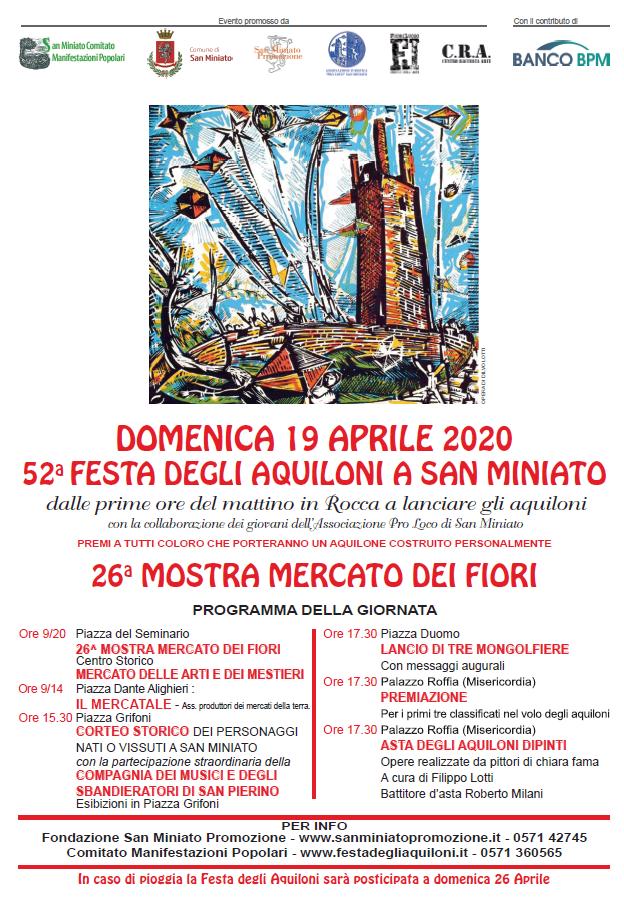 52° Festa degli aquiloni e 26° Mostra mercato dei Fiori   San Miniato