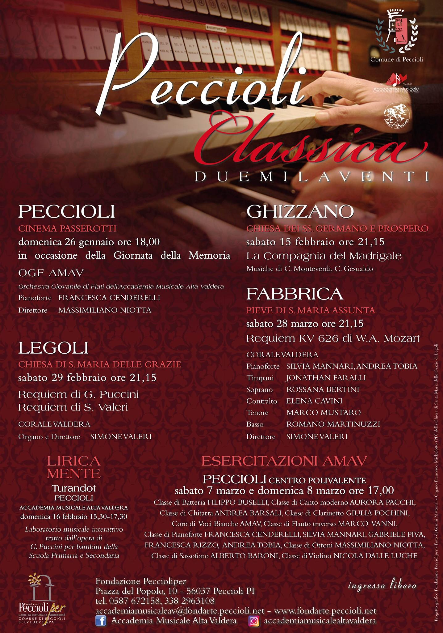 Rassegna Peccioli Classica, 5° edizione | Peccioli e frazioni