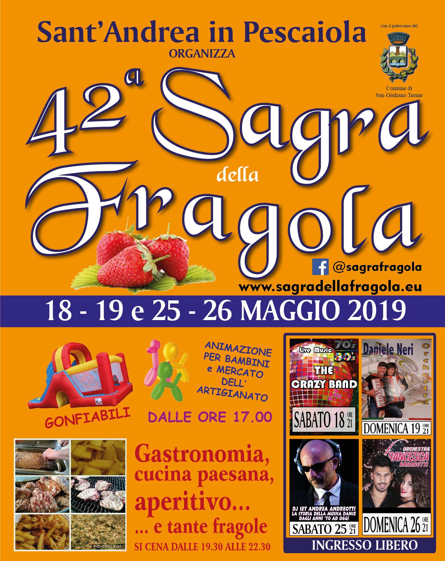 San Giuliano Terme, S.Andrea in Pescaiola | Sagra della Fragola, 43° edizione  ANNULLATA