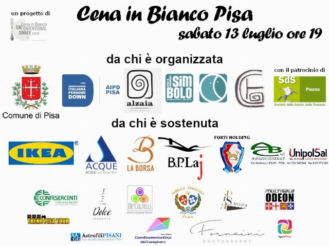9° Cena in bianco – Unconventional Dinner | Pisa