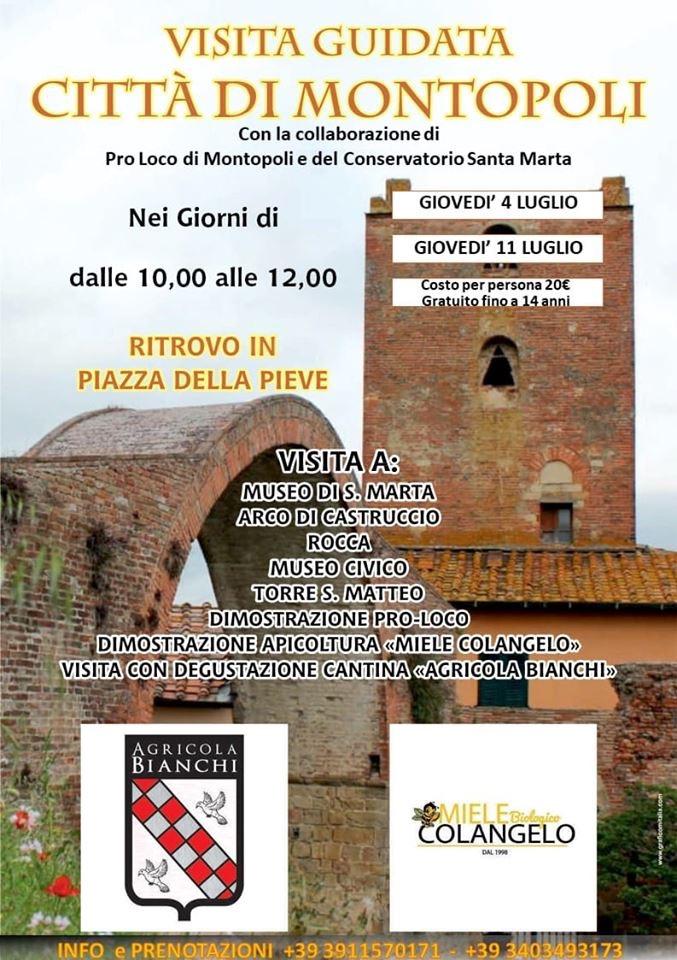 Visite guidate a luglio | Montopoli in Val d'Arno