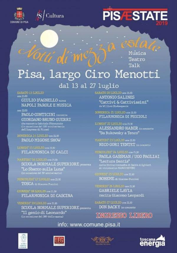 Notti di mezza estate | Pisa