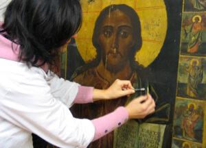 restauro scuola e laboratorio icone russe peccioli