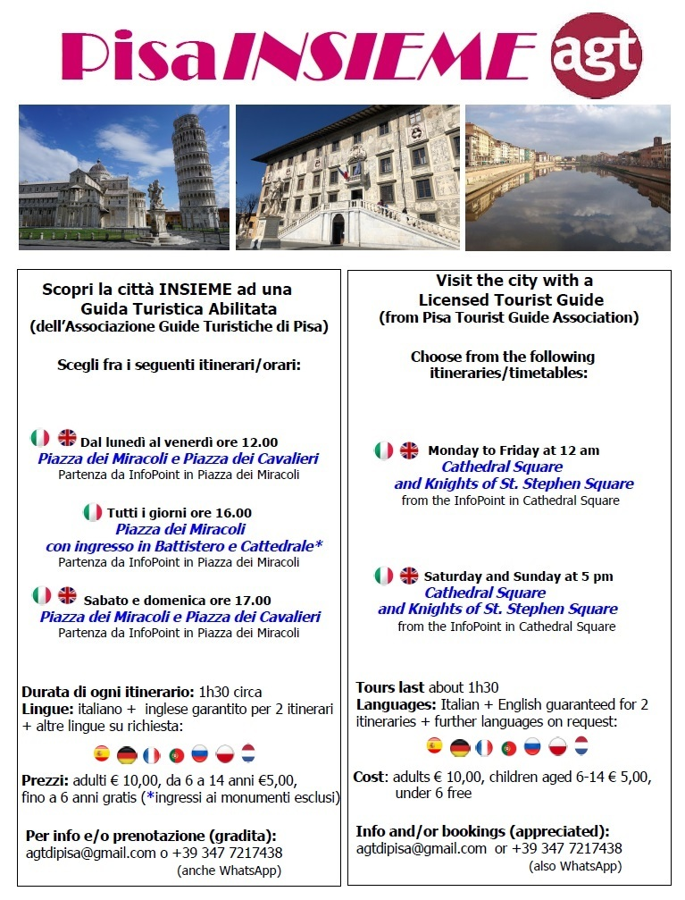 Discover Pisa with a professional tourist guide
