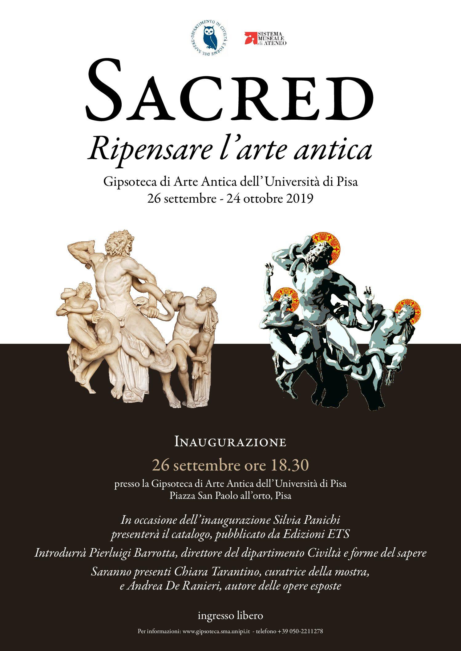 "Mostra ""Sacred: Ripensare l'Arte Antica"" | Pisa"