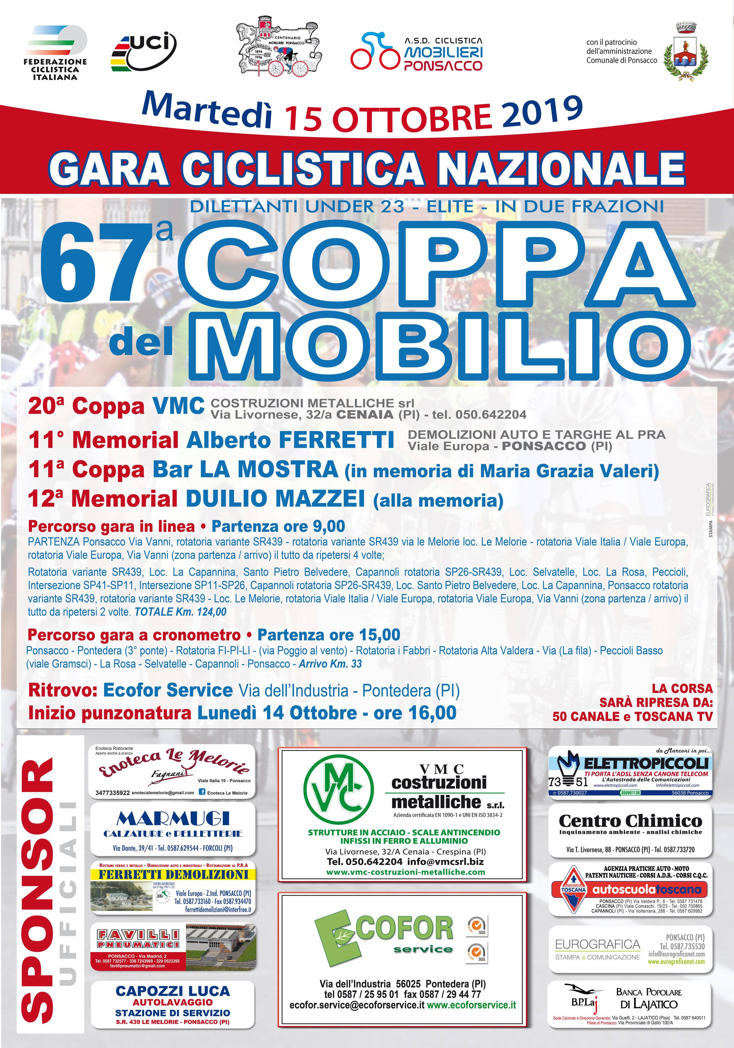 67° Coppa Ciclistica del Mobilio  | Ponsacco