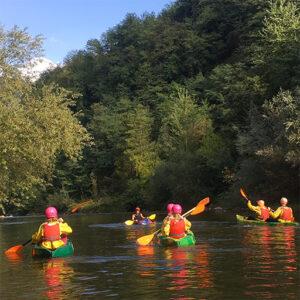 itinerario kayak sul fiume Serchio dal monte al mare