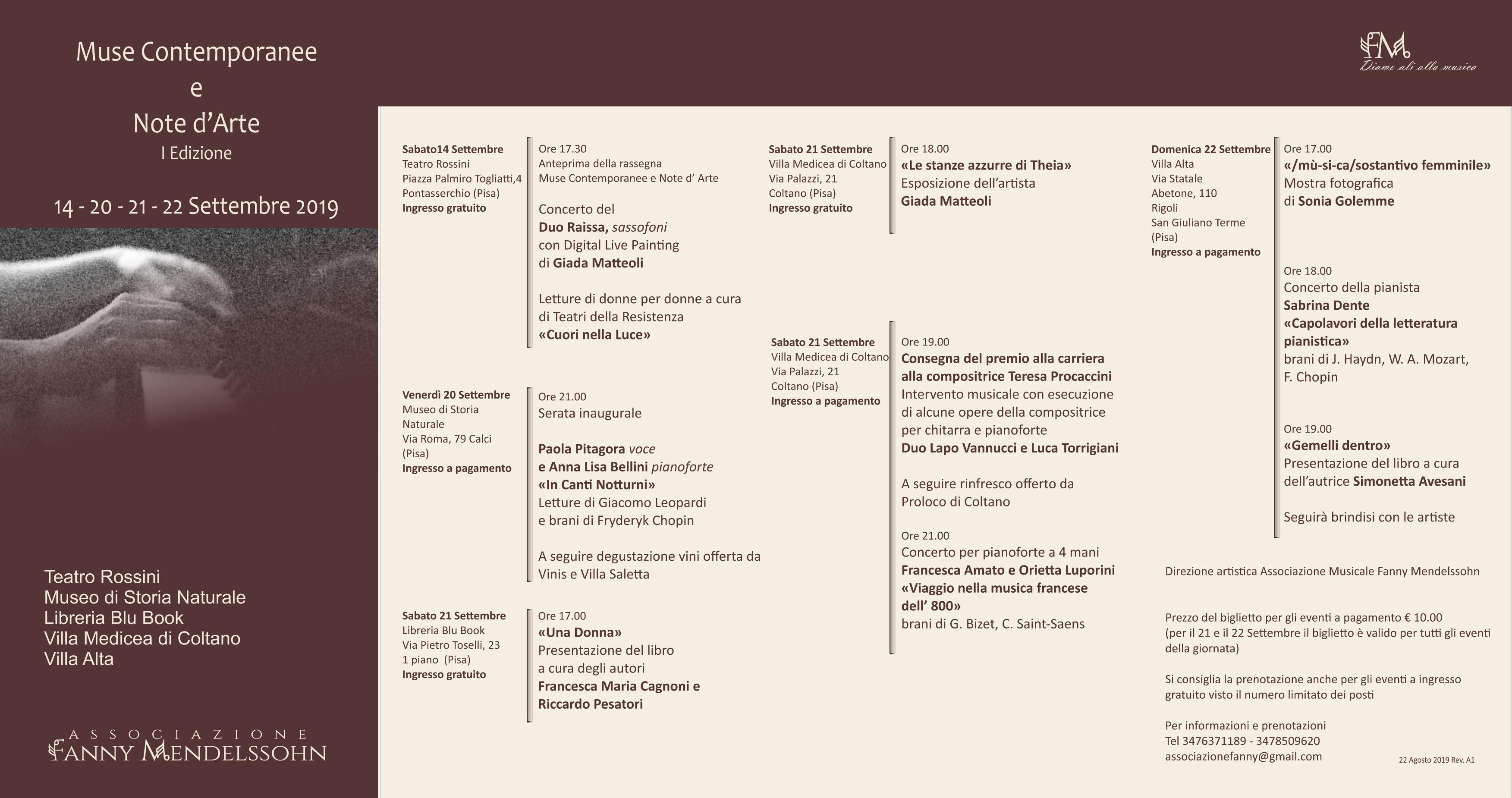 """1° Festival """"Muse Contemporanee"""""""