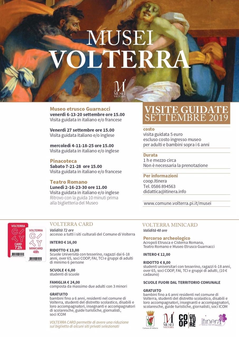 September in Volterra: guided visits to the Museums