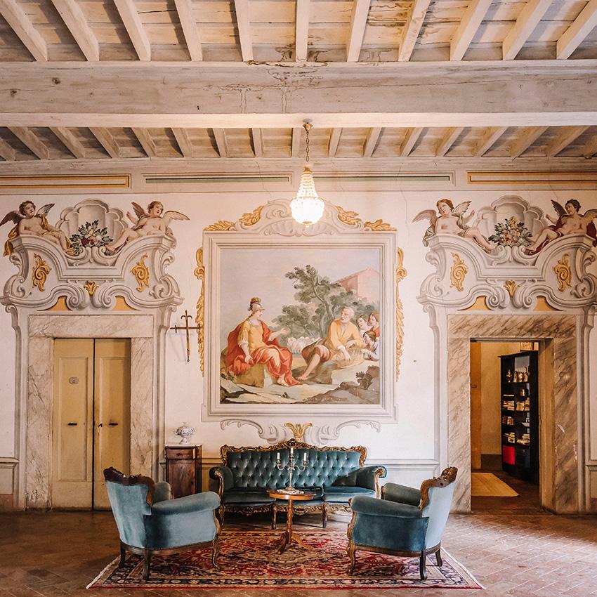interno affreschi
