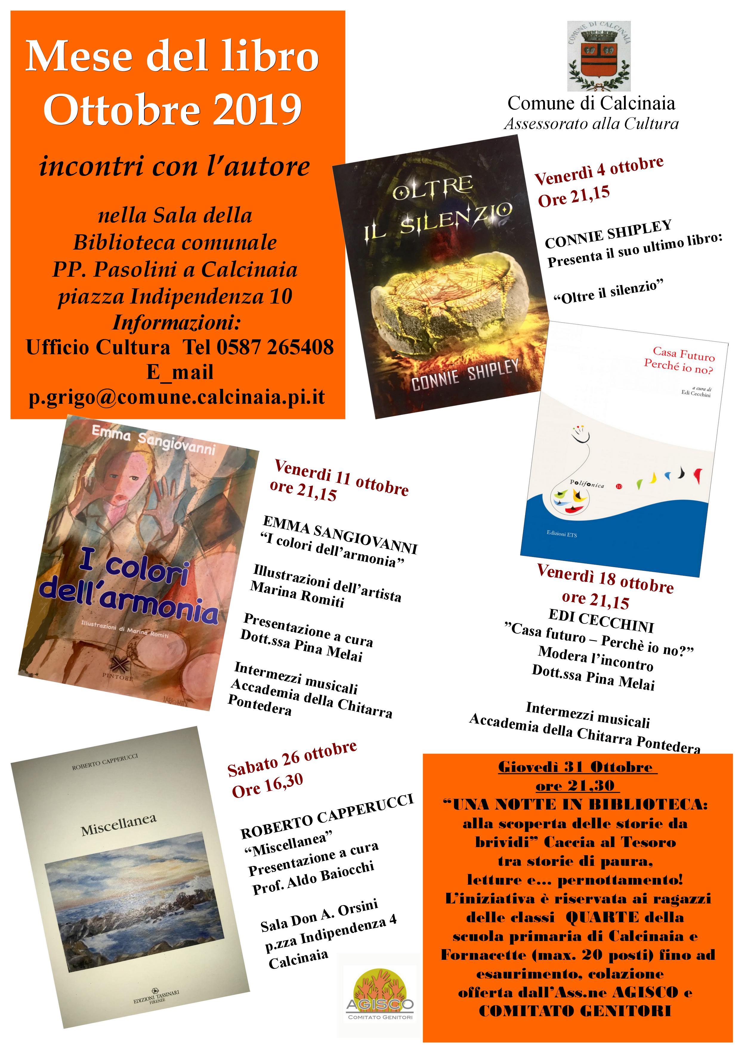 Ottobre, mese del libro | Calcinaia