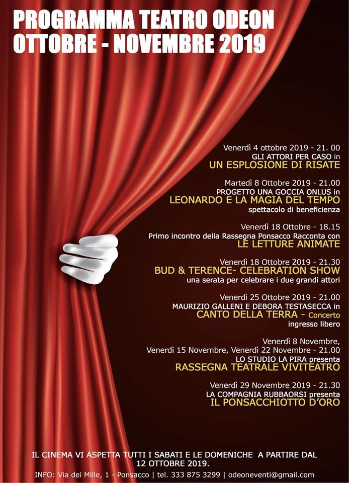 Stagione al Cinema Teatro Odeon | Ponsacco