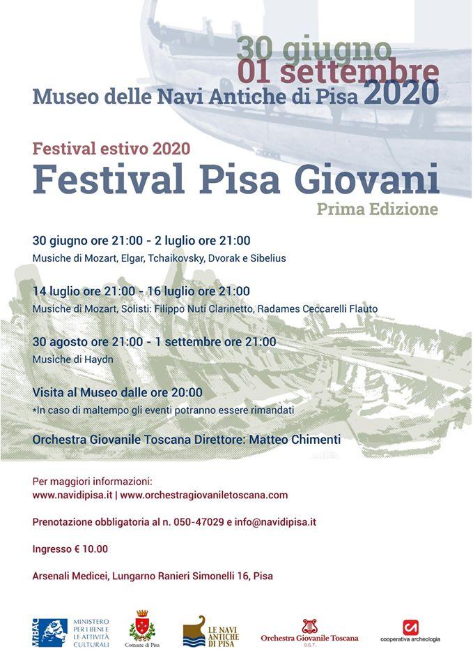 Festival estivo Pisa Giovani al Museo delle Navi Antiche