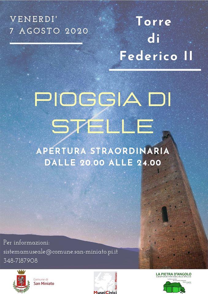Eventi ai musei civici di San Miniato – Pioggia di stelle in Rocca, 7 agosto
