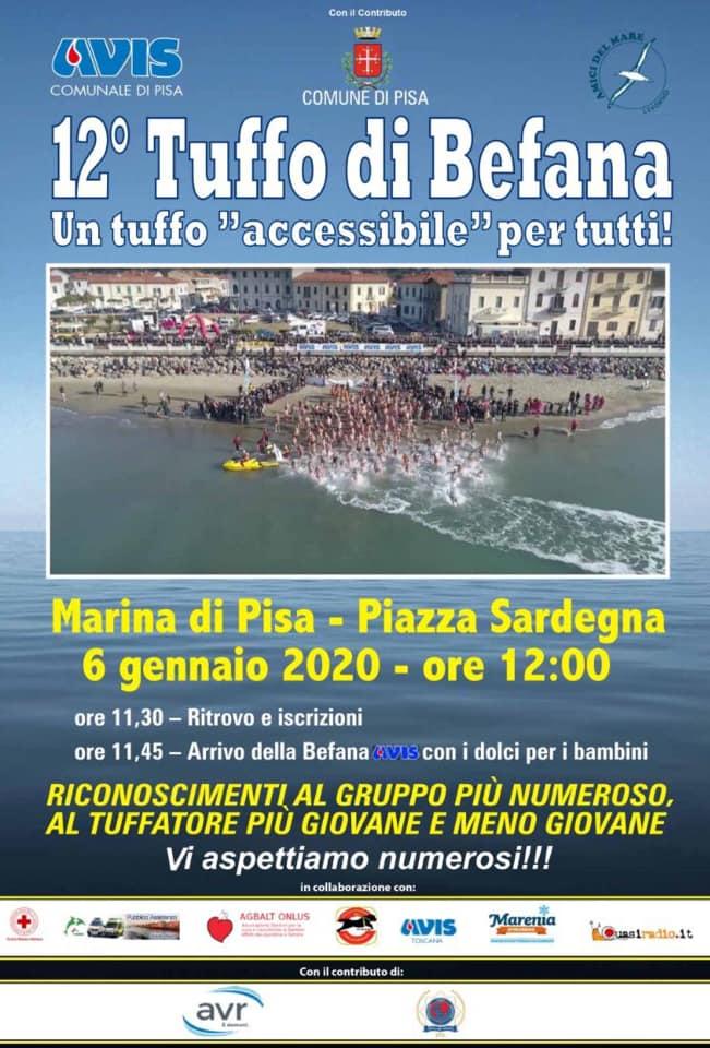 Tuffo della Befana, 12° edizione | Marina di Pisa