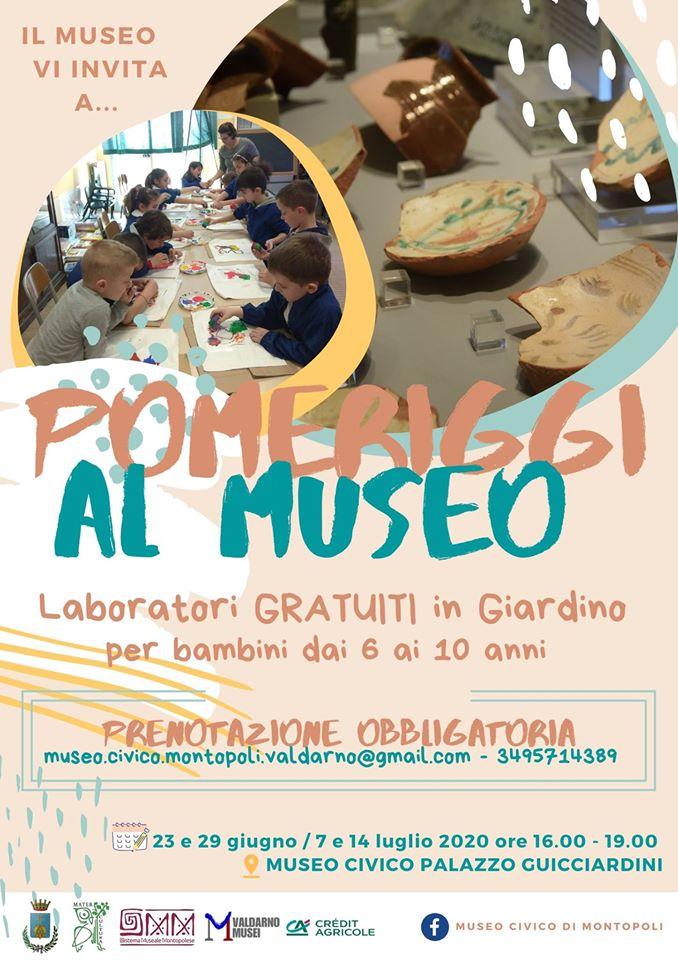 Programma eventi e attività bambini al Museo Civico Guicciardini | Montopoli in Valdarno